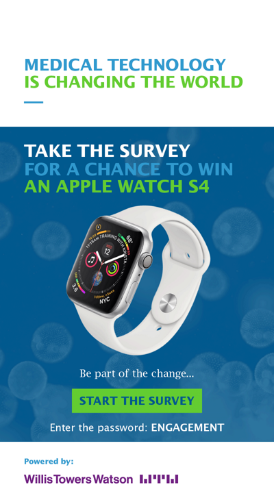 Take the survey for a chance to win an Apple Watch S4