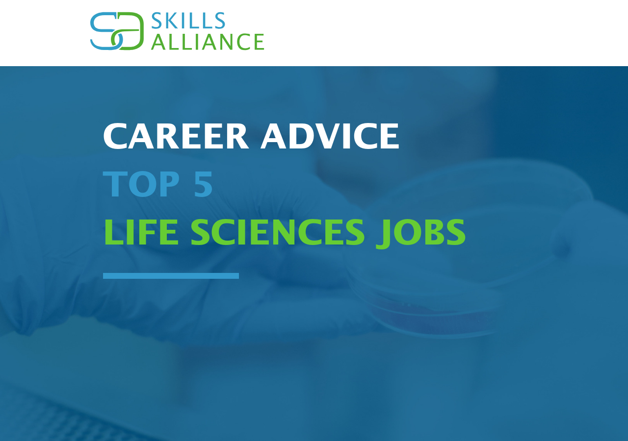 Top 5 life sciences jobs