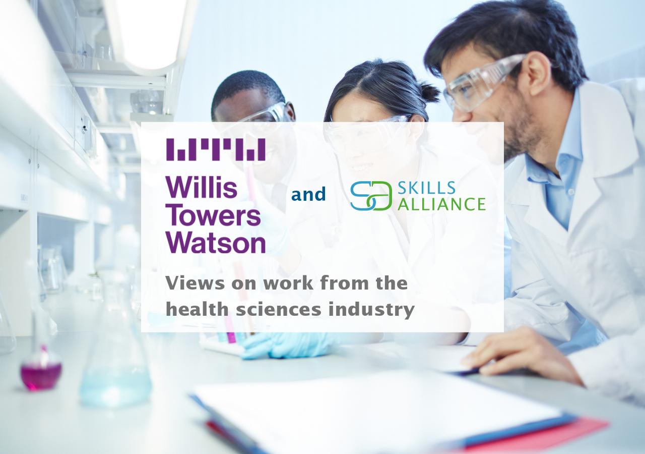Willis Towers Watson & Skills Alliance Health Sciences industry graphic
